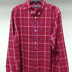 🆕Izod Triple Stripe Plaid Stretch Woven Shirt